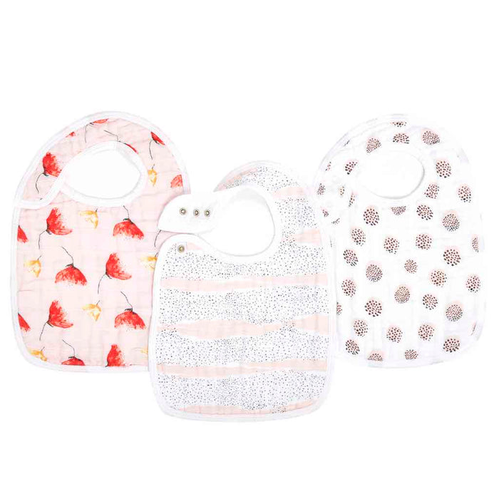 Aden and Anais Classic Snap Bibs 3-pack Picked for You