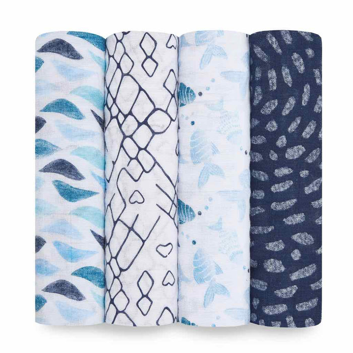 Aden and Anais Classic Swaddles 4-pack Gone Fishing