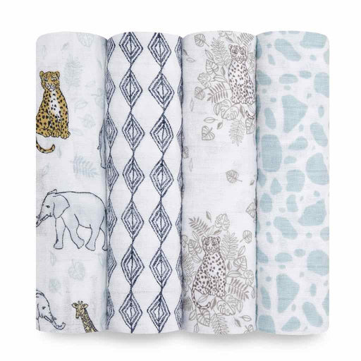 Aden and Anais Classic Swaddles 4-pack Jungle