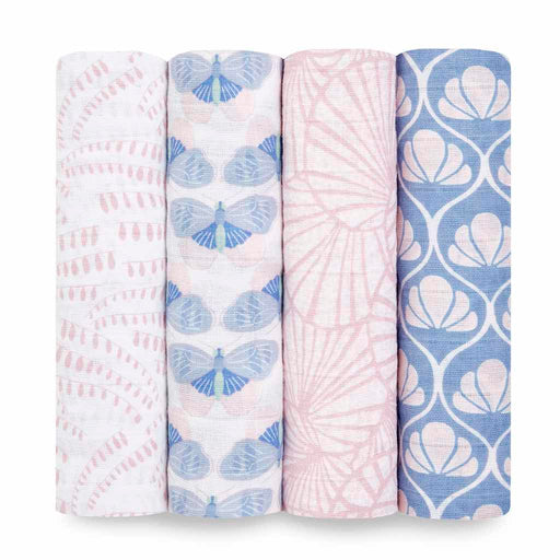 Aden and Anais Classic Swaddles 4-pack Deco