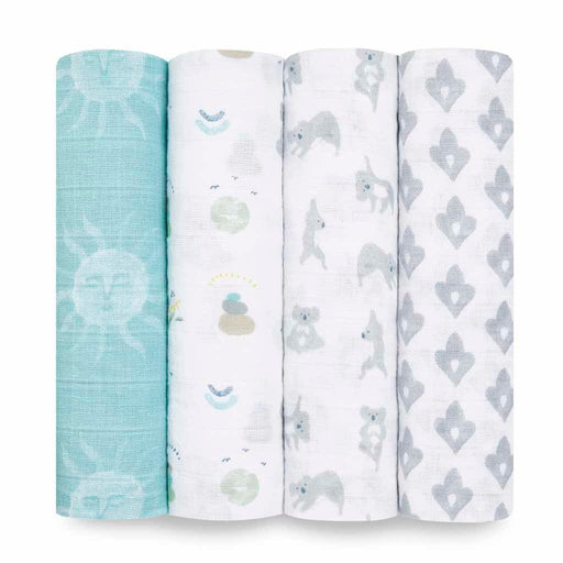 Aden and Anais Classic Swaddles 4-pack Now and Zen