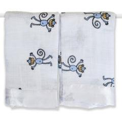 Aden and Anais | Classic Security Blankets Amelia Monkey Issie 2pk