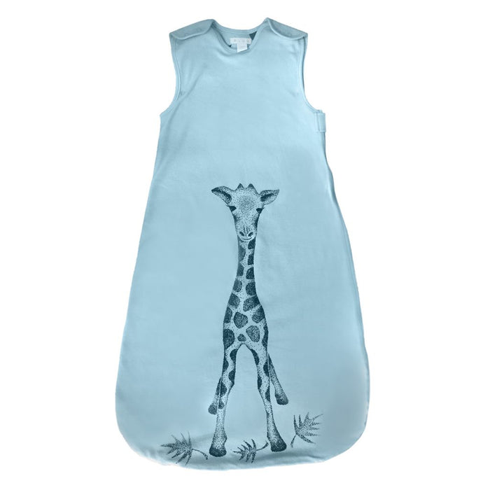 Plum - 1.0 tog 100% Jersey Cotton Sleeping Bag Blue Giraffe