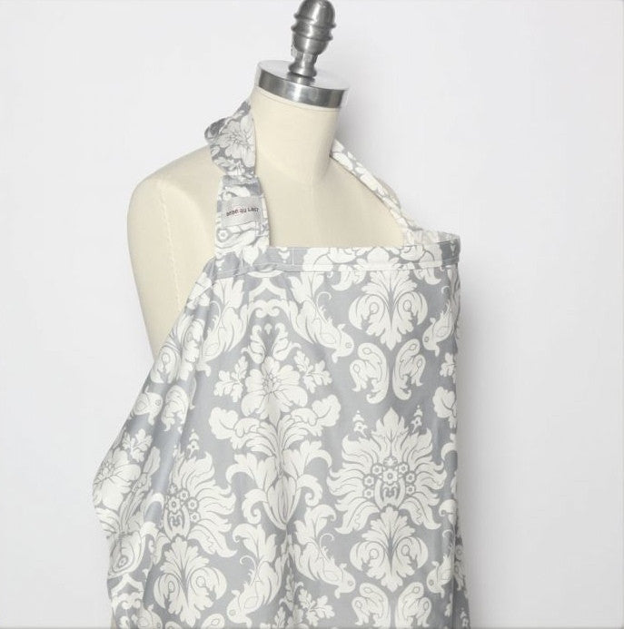 Bebe Au Lait - Nursing Cover Premium Cotton Chateau Silver