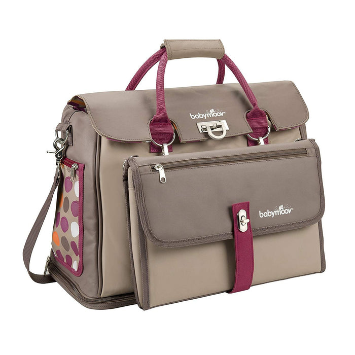 Babymoov - Maternity Bag Free Hand Taupe/Hibiscus