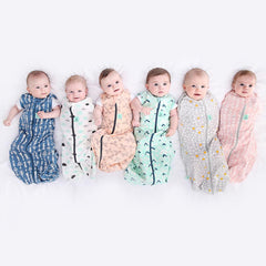 ergoPouch - 0.2 tog Cocoon Swaddle & Sleep Bag Spring Leaves