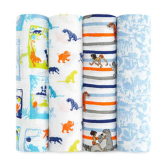 Aden and Anais - Disney Baby Classic Swaddles 4-pack The Jungle Book
