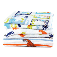 Aden and Anais - Disney Baby Classic Musy Squares 3-pack The Jungle Book