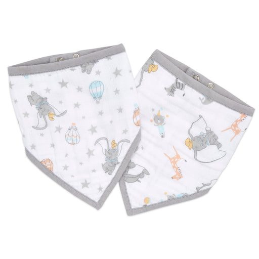 Aden and Anais Essentials Disney Bandana Bib 2PK Dumbo New Heights