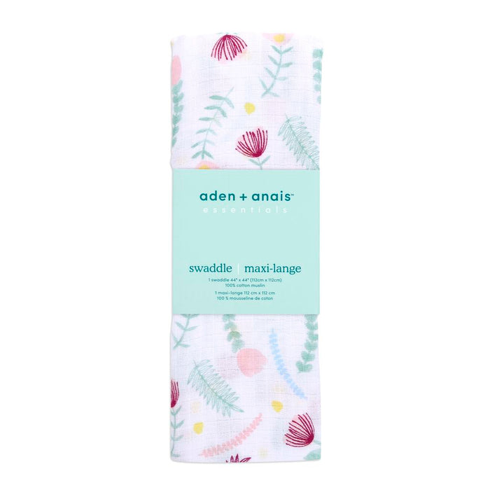 Aden by Aden and Anais - Classic Muslin Swaddle Single Floral Fauna