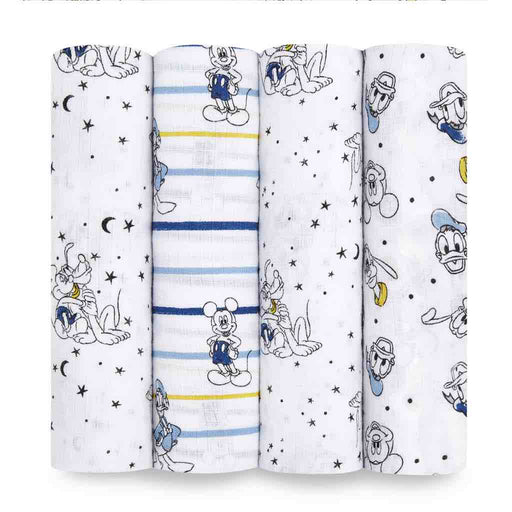 Aden and Anais Essentials Swaddles 4-pack Disney Mickey Stargazer