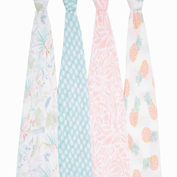 Aden and Anais Essentials Swaddles 4-pack Tropicalla