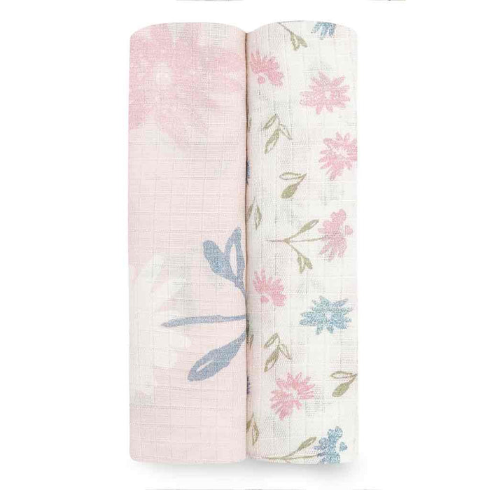 Aden and Anais Essentials Swaddles 2-pack Vintage Floral