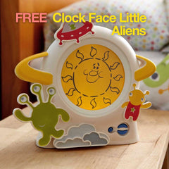Gro Company | Gro Clock with Book + FREE Clock Face Little Aliens