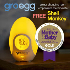 Gro Company | Gro Egg Digital Nursery Thermometer + FREE Shell Mikey the Monkey