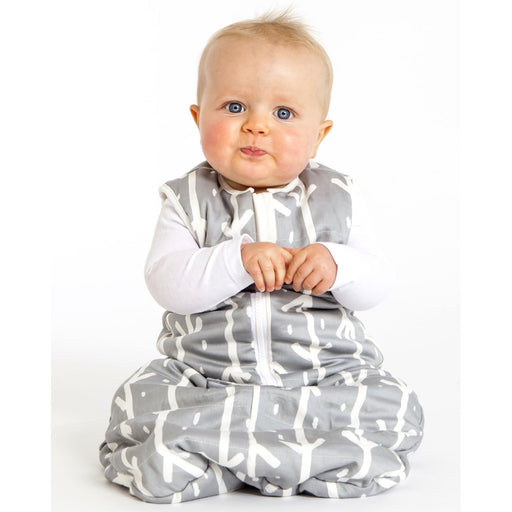 Baby Studio - 1.0 tog Organic Cotton Reversible Sleeping Bag Grey Arrows