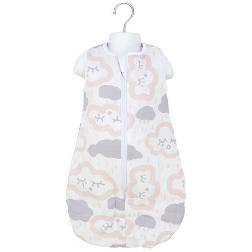 Baby Studio - 1.0 tog Cotton Reversible Sleeping Bag Clouds Pink