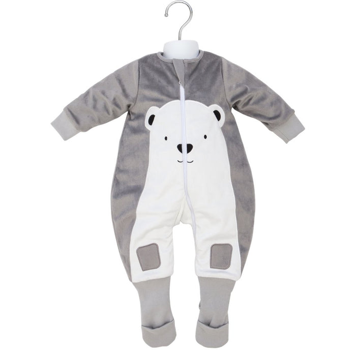 Baby Studio - 3.0 tog Fleece Warmies Sleep Suit with Arms Polar Bear