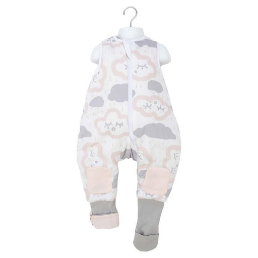 Baby Studio - 1.0 tog Cotton Reversible Coolies Sleep Suit Clouds Pink