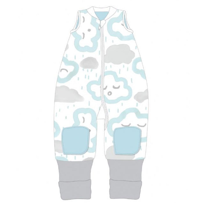 Baby Studio - 1.0 tog Cotton Reversible Coolies Sleep Suit Clouds Peppermint