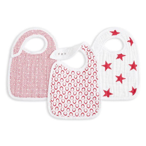 Aden and Anais - Classic Snap Bibs 3-pack RED Limited Edition