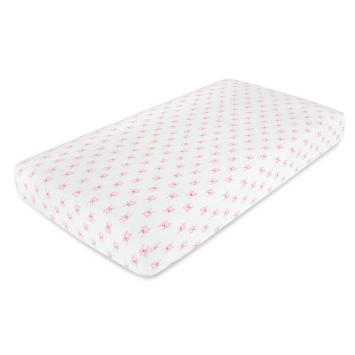 Aden by Aden and Anais Flannel Cot Sheet Bunny Pink