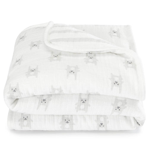 Aden by Aden and Anais Flannel Mini Blanket Bunny Grey