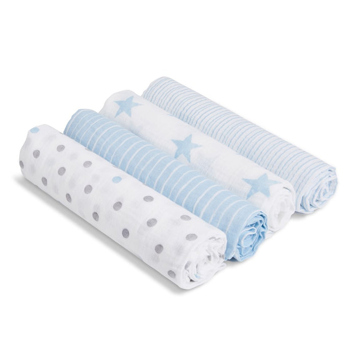Aden by Aden and Anais - Swaddles 4-pack Dapper