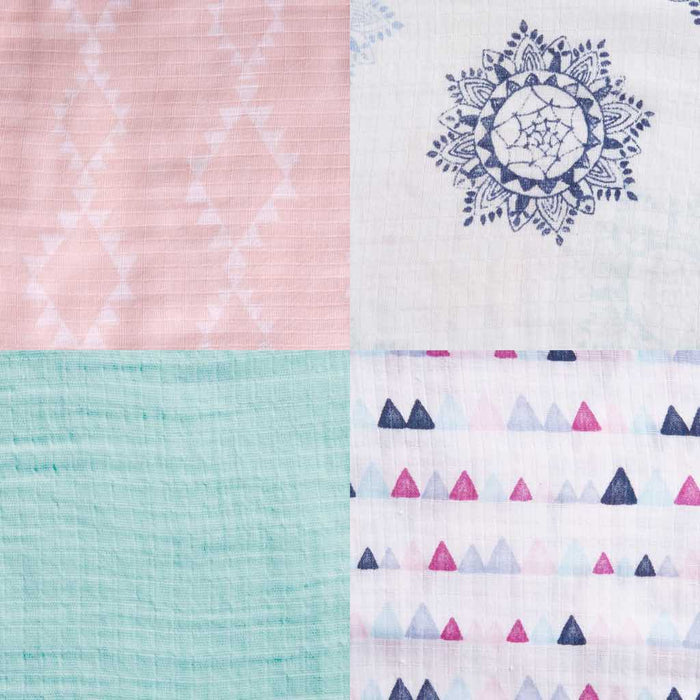 Aden by Aden and Anais - Swaddles 4-pack Pretty Pink