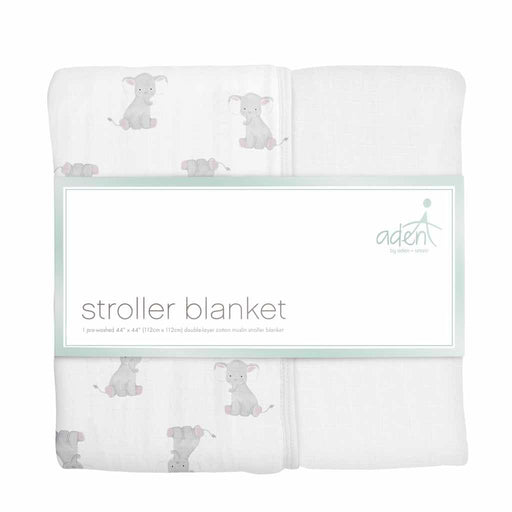 Aden by Aden and Anais Stroller Blanket Safari Babes Elephant