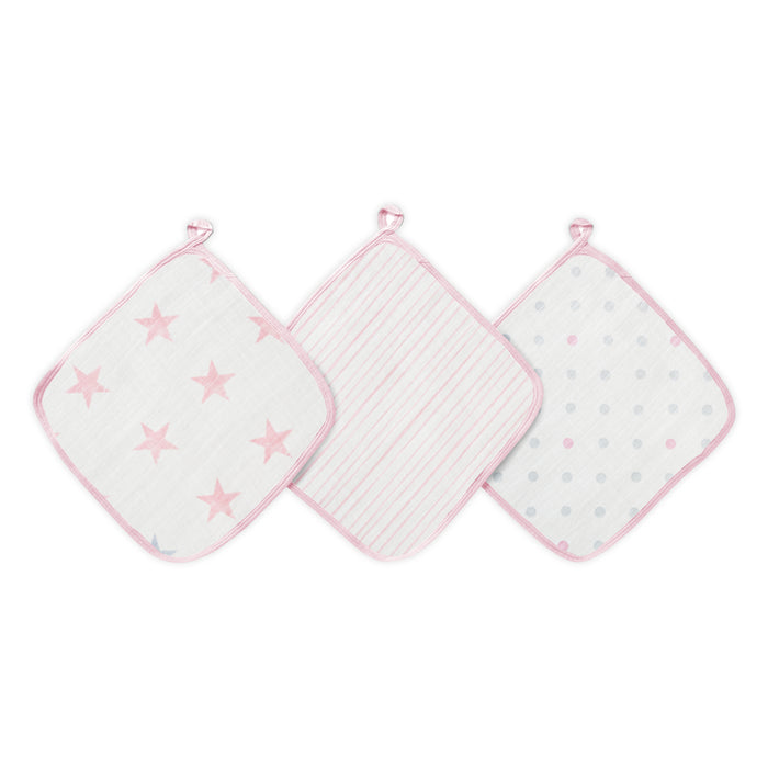 Aden by Aden and Anais Washcloth Sets 3-pack Doll Stars