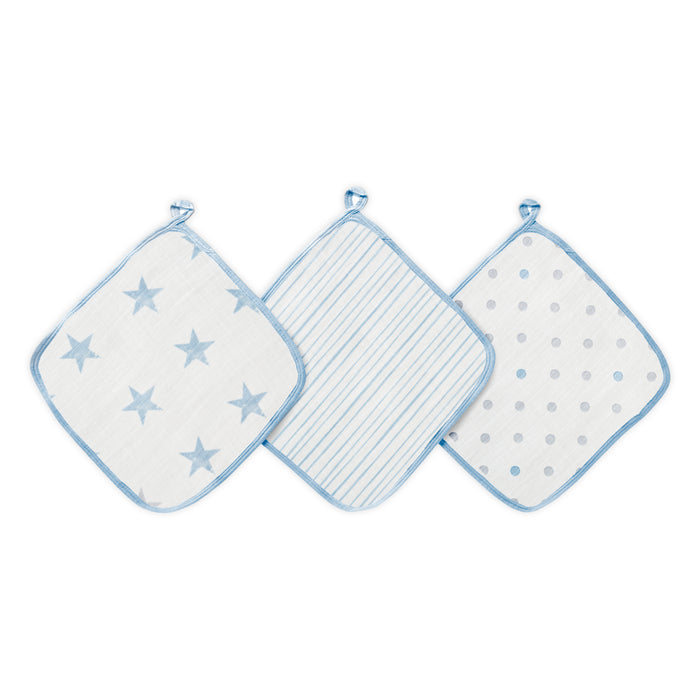 Aden by Aden and Anais Washcloth Sets 3-pack Dapper Stars