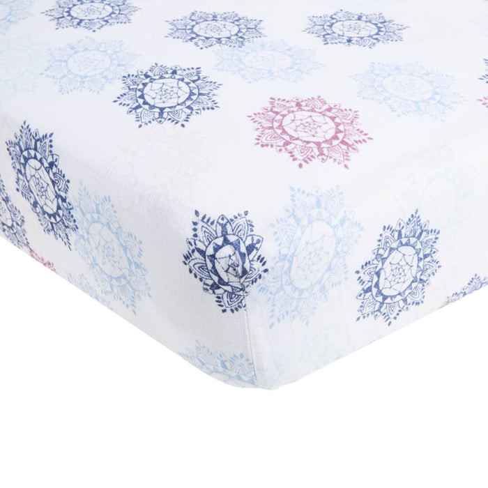 Aden by Aden and Anais - Muslin Cot Sheet Pretty Pink Medallion