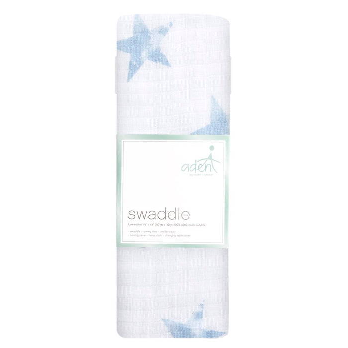Aden by Aden and Anais Swaddle 1PK Dapper Blue Star