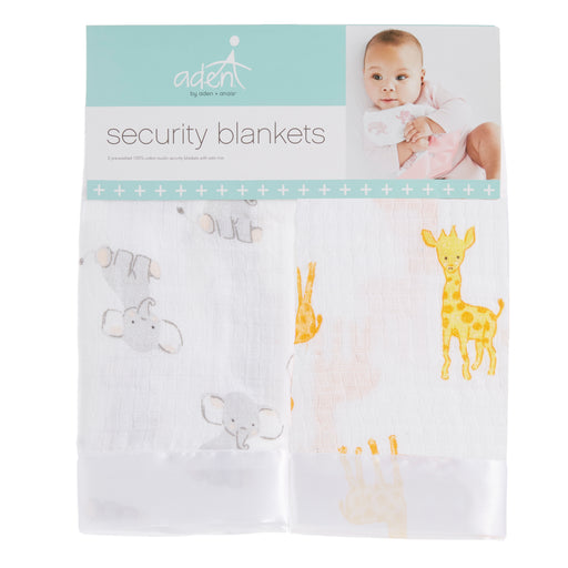 Aden by Aden and Anais Security Blankets 2pk Safari Babes