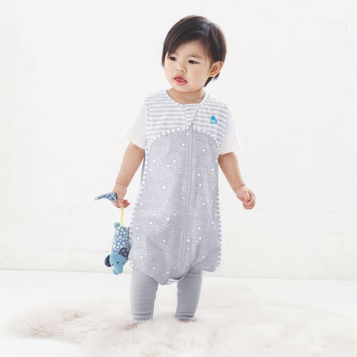 Love To Dream - 0.2 tog Love To Dream Sleep Suit Grey and White