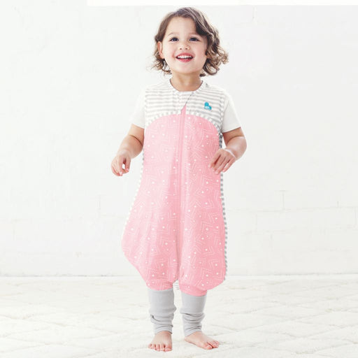 Love To Dream - 0.2 tog Love To Dream Sleep Suit Pink and White