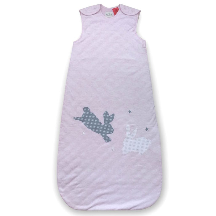 Plum - 2.5 tog Sleeping Bag with Room Thermometer Classic Bunnies