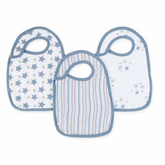 Aden and Anais | Classic Snap Bibs 3-pack Prince Charming