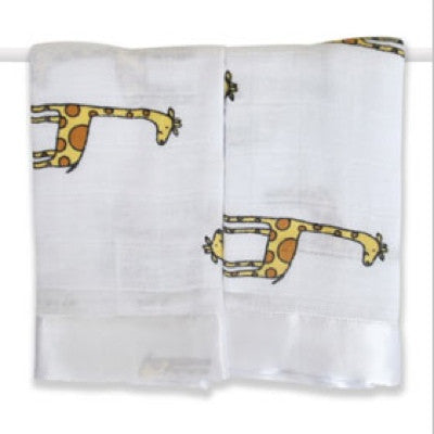 Aden and Anais | Classic Security Blankets Duke Giraffe Issie 2pk