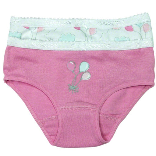 Marquise - Underwear Girls 2-pack Pink with Balloons and Multi Print
