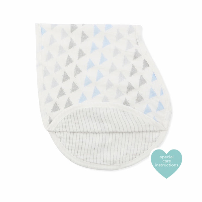 Aden and Anais - Silky Soft Bamboo Burpy Bib Metallic Blue Moon Birch
