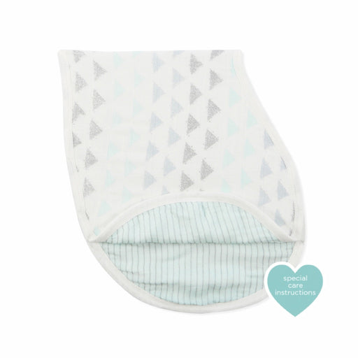 Aden and Anais - Silky Soft Bamboo Burpy Bib Metallic Skylight Birch