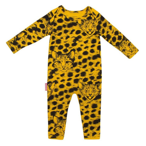 Sookibaby - Classic Long Sleeve Romper Cool Cat