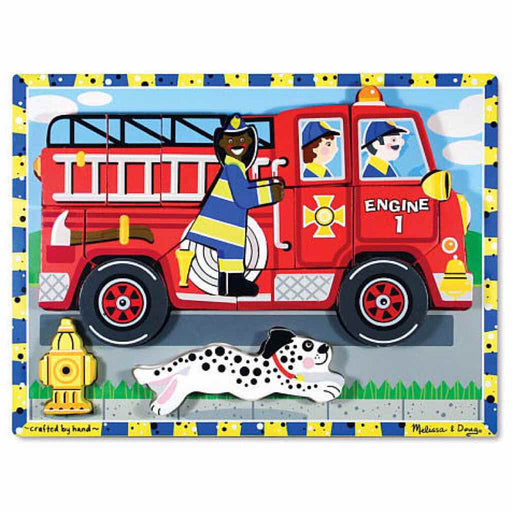Melissa and Doug | Chunky Puzzle Fire Truck