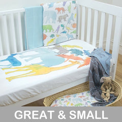Weegoamigo - Wow Cot Fitted Sheet - Animal Stack