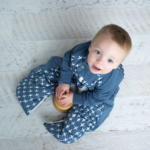 ergoPouch - 2.5 tog Sleepsuit Bag Winter Navy Cross