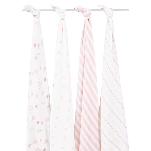 Aden and Anais | Classic Swaddles 4-pack Heartbreaker