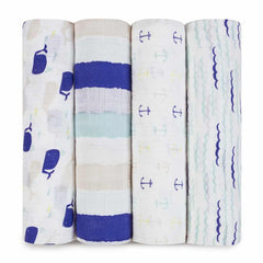 Aden and Anais - Classic Swaddles 4-pack High Seas