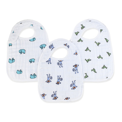 Aden and Anais | Classic Snap Bibs 3-pack Jungle Jam